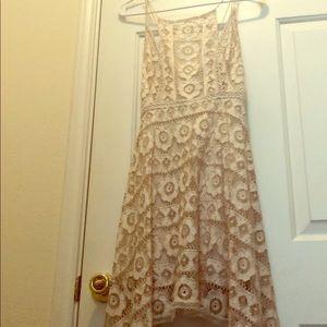 Free People women's beige short flowy dress size 0